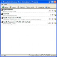 Thunderbird Backup screenshot